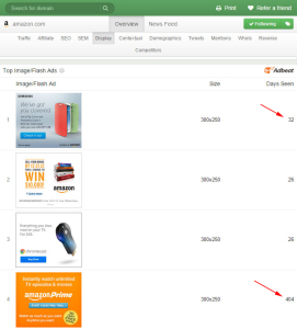 Amazon.com banner ads on desktop.