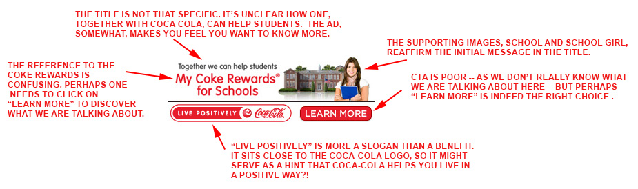 Coca-Cola.com desktop banner ad analyzed.