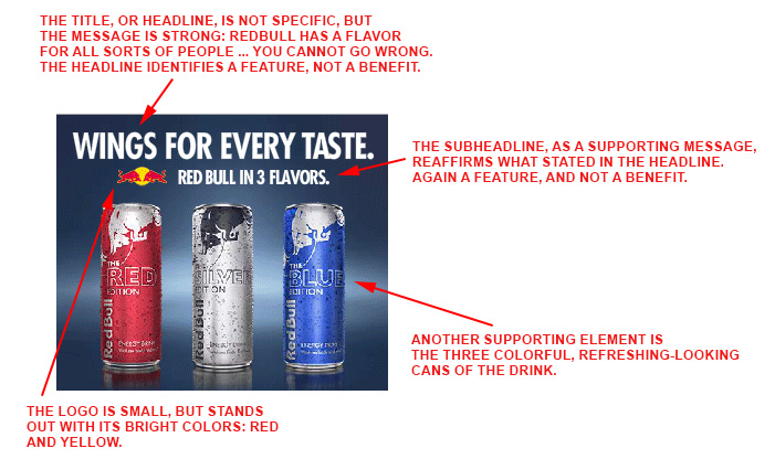 RedBull desktop banner ad analyzed.