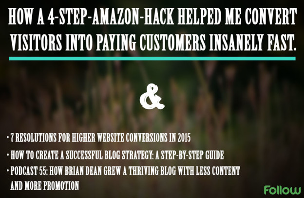 Amazon growth hack.