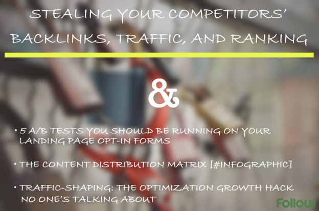 Steal competitors backlinks, traffic, ranking.