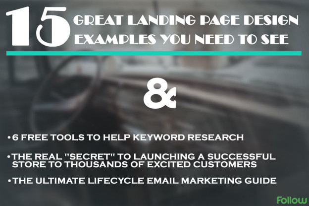 Great landing page examples.