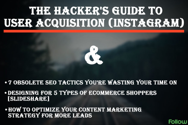 Growth hacking guide for instagram.