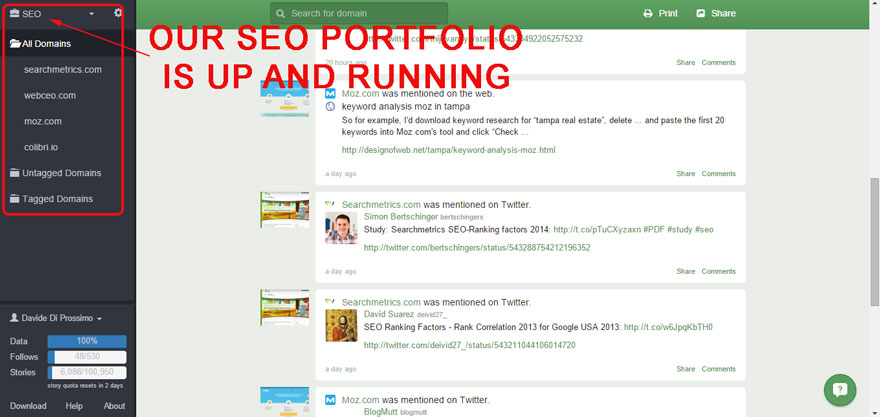 SEO portfolio is up and running is Follow.