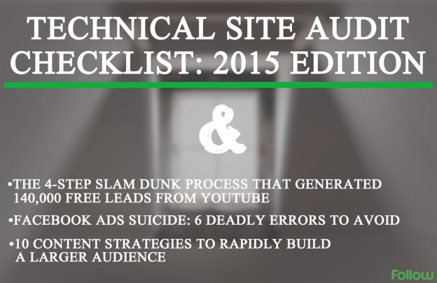 SEO site audit checklist 2015.