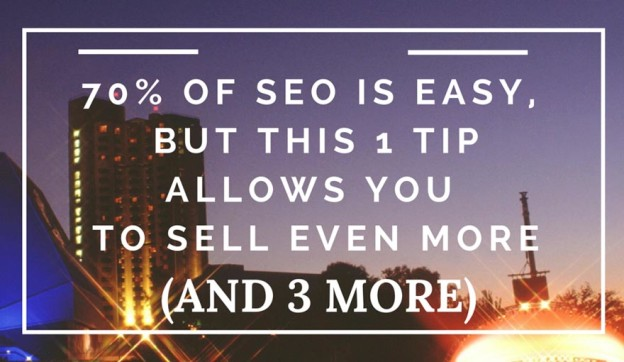 SEO tip to increase sales.