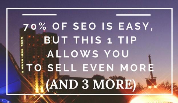 SEO tip to increase sales.