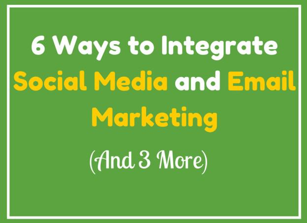 Social media email marketing.