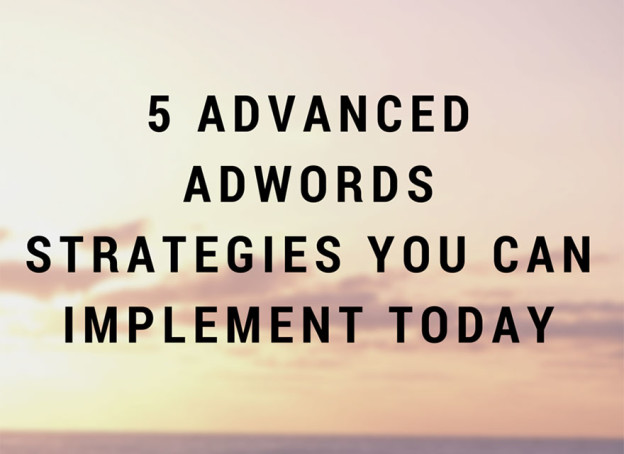 Advanced adwords strategies.