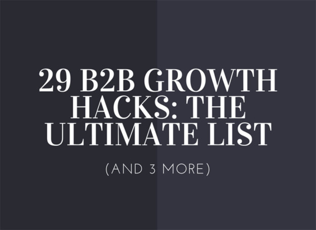 B2B growth hacks.