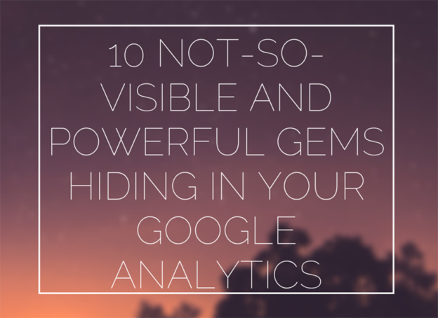 Google analytics features.