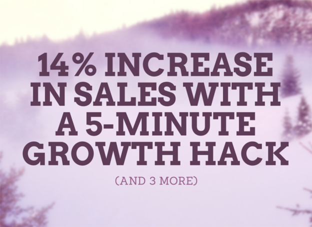 Growth hack ecommerce increase sales.