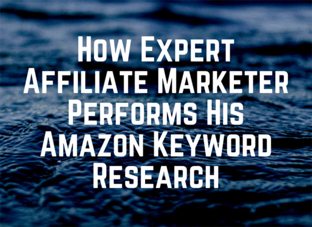 Keyword research on amazon.