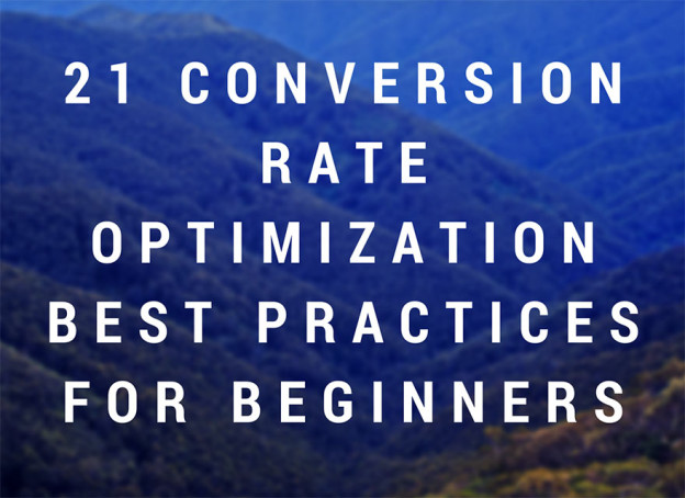 Conversion rate optimization for beginners.